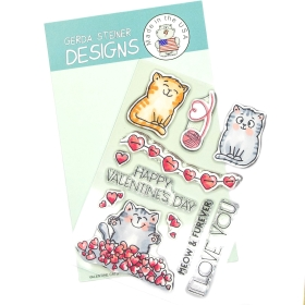 Set Valentine Cats 4x6...