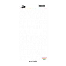 White Alphabet Sticker Sheet