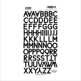 Black Alphabet Sticker Sheet