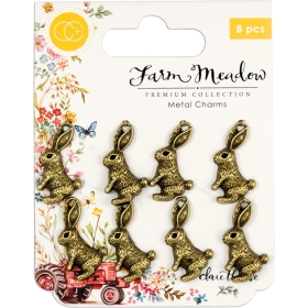 Rabbits Metal Charms