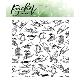 Collage of Birds Clearstamps