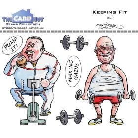 Keeping Fit Clearstamps