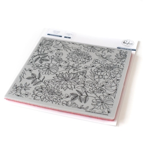 Enchanted Blooms Cling Stamp