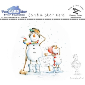 Santa Stop Here Clear Stamps