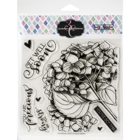 Get Well Hydrangea Clearstamps
