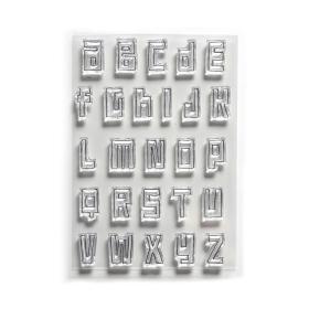 Block Alphabet Clearstamp