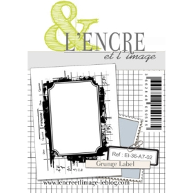 Grunge Label A7 Clearstamp
