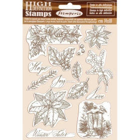 Poinsettia Cling Stamps