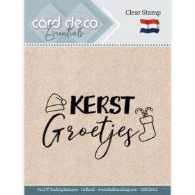 Clear Stamps - Kerst Groetjes