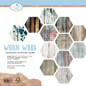 Worn Wood 30x30 Cardstock