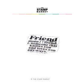 Friend Clearstamp