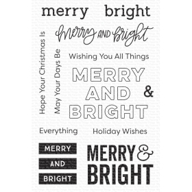 Merry & Bright Clearstamp