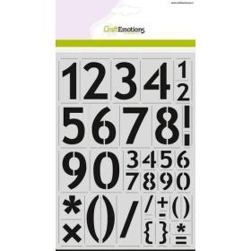 Stencil - Cijfers Basic A4
