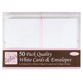 A6 Cards & Envelopes White...
