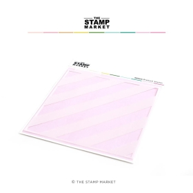 Chunky Diagonal Stripe Stencil