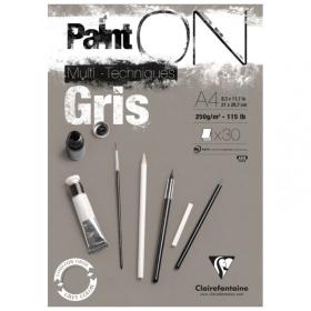 PaintON papier - Gris A4 -...