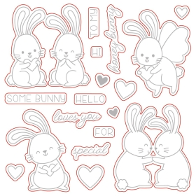 SET Honey Bunnies Stamps &...