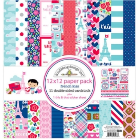 """French Kiss 12x12"""" Paper Pack"""