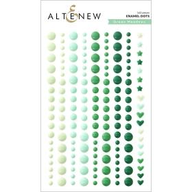 Green Meadows Enamel Dots