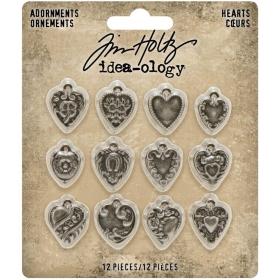 Metal Adornments - Hearts