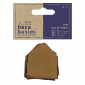 Mini Kraft Envelopes Brown...