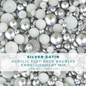 Silver Satin Baubles...