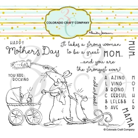 Amazing Mom Clearstamps -...