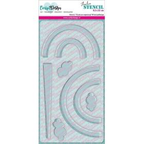 Stencil Slimline Regenboog