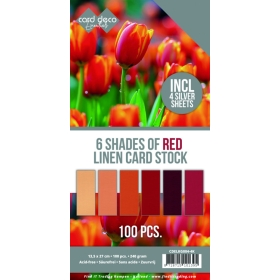 6 Shades of Red Linen Card...