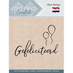 Clear Stamps - Gefeliciteerd