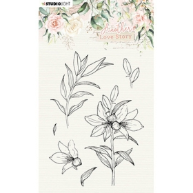 Clearstamp Lily Flower -...