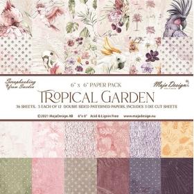 """Tropical Garden - 6x6""""..."""