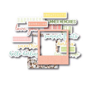 Die-Cuts – Sunny Days Text