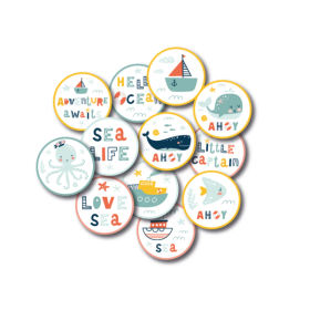 Die-Cuts – Sea Life Buttons