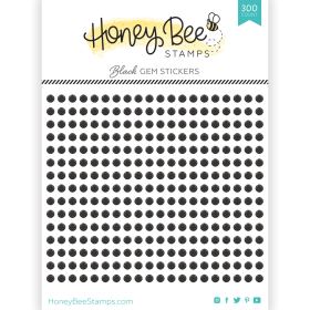 Gem Stickers - Black - 3mm