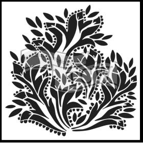 Dramatic Floral Stencil 12x12