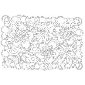 Flowers Stencil 6x4