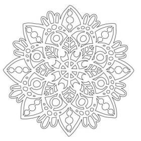 Mandala 1 Stencil 6x6