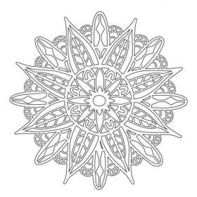 Mandala 2 Stencil 6x6