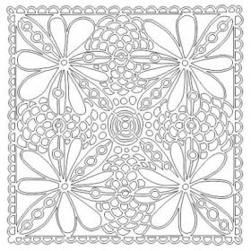 Floral Frenzy stencil 6x6