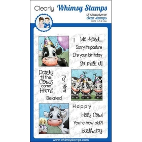 Whimsy Stamps - Cow Party...