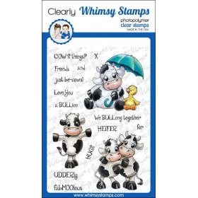 Whimsy Stamps - Cow Friends...