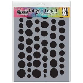 Coins Stencil Large