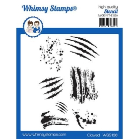 """Whimsy Stamps - Clawed 6x9""""..."""
