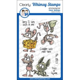 Whimsy Stamps - Rat Attack...